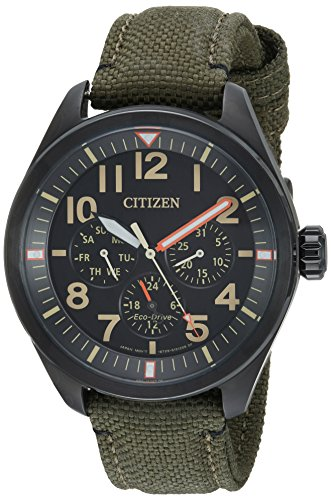 Citizen Men'sMilitary' Quartz Stainless Steel and Nylon Casual Watch