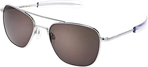 Randolph USA Bright Chrome Classic Aviator Sunglasses