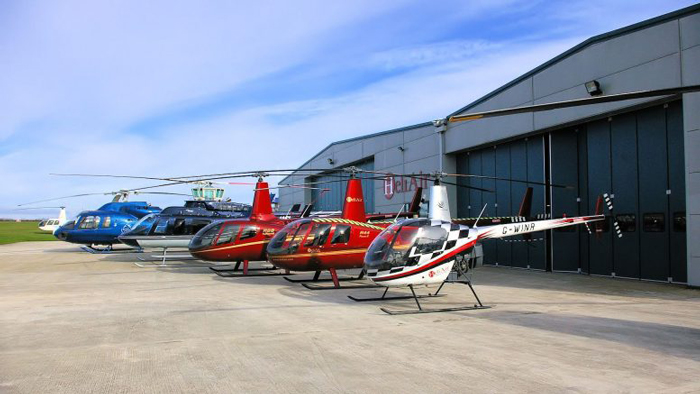 a helicopter flight school