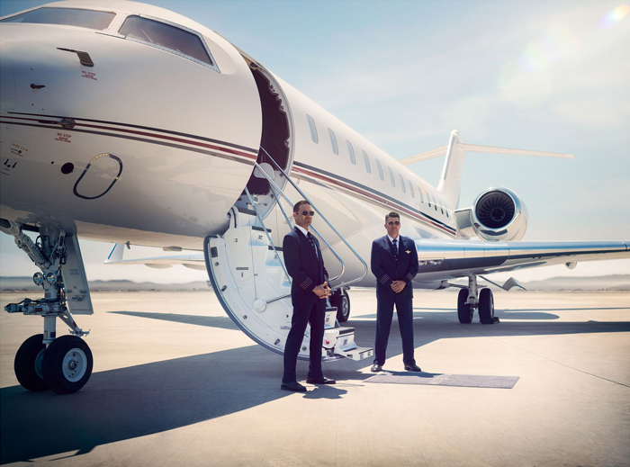 a private jet pilot