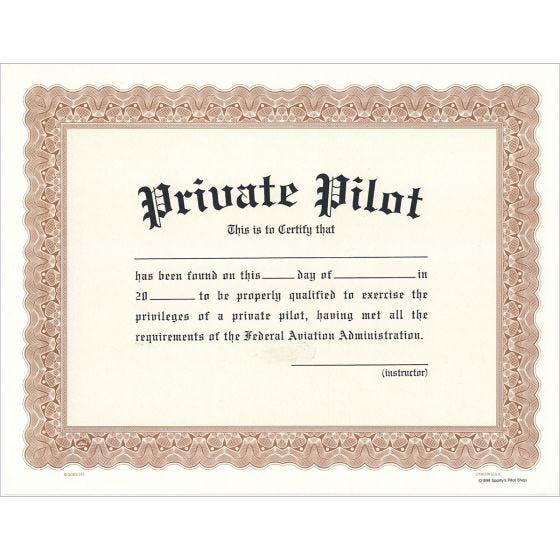 a private pilot certificate
